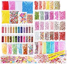72 Pack Slime Stuff Charms Include Floam Balls, Slime Supplies Kit,  Glitter, Cake Flower Fruit Slices, Fishbowl Beads, Shell, Slime Accessories for DIY Slime Making, Slime Party Decoration