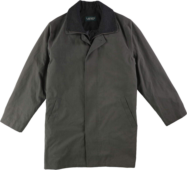 Ralph Lauren Mens Edgar Rain Jacket, Grey, 36 Regular
