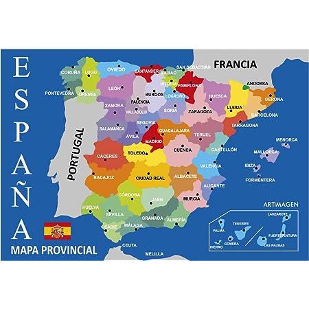 Cartina Turistica Spagna.Grupo Erik Editores Mini Poster Mappa Della Spagna Amazon It Casa E Cucina