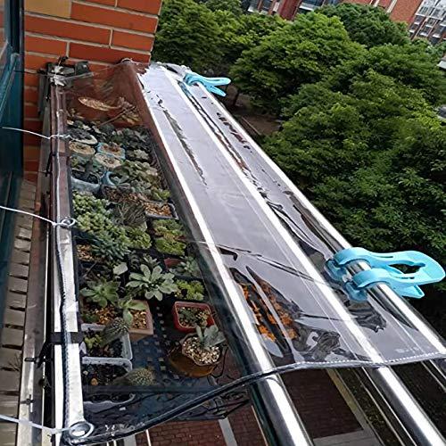 U/D Lonas Impermeables Exterior,Hoja De Lona Resistente, Lona Transparente Impermeable Transparente con Ojales, para Agricultura, Camping, Cubierta De Muebles,Clear,2x2.5m