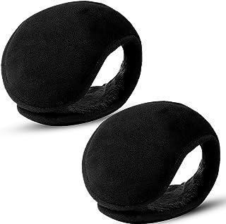 ONESING 2 قطعة من أغطية الأذنين الشتوية للرجال والنساء أغطية الأذن قابلة للطي لتدفئة الأذن من الصوف الدافئ للأذنين اكسسوار...