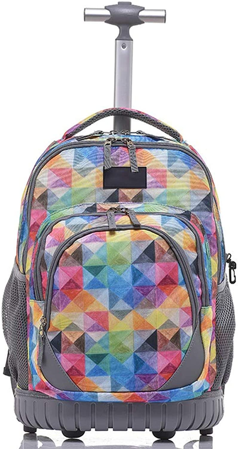 442447fd41f6 YEXIN Primary School Student Trolley Bag New Laptop Rolling Backpack ...