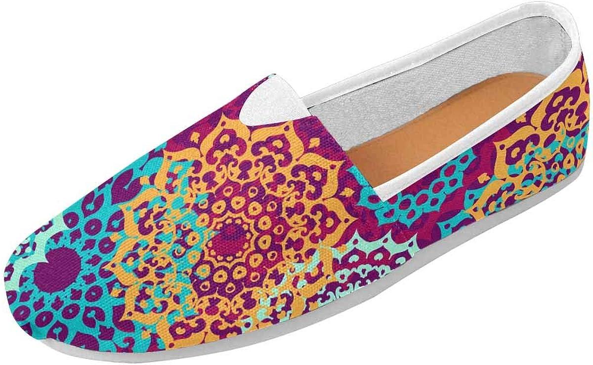 InterestPrint Multicolor Pattern Mandalas Classics Women's Slip On Loafer Shoes