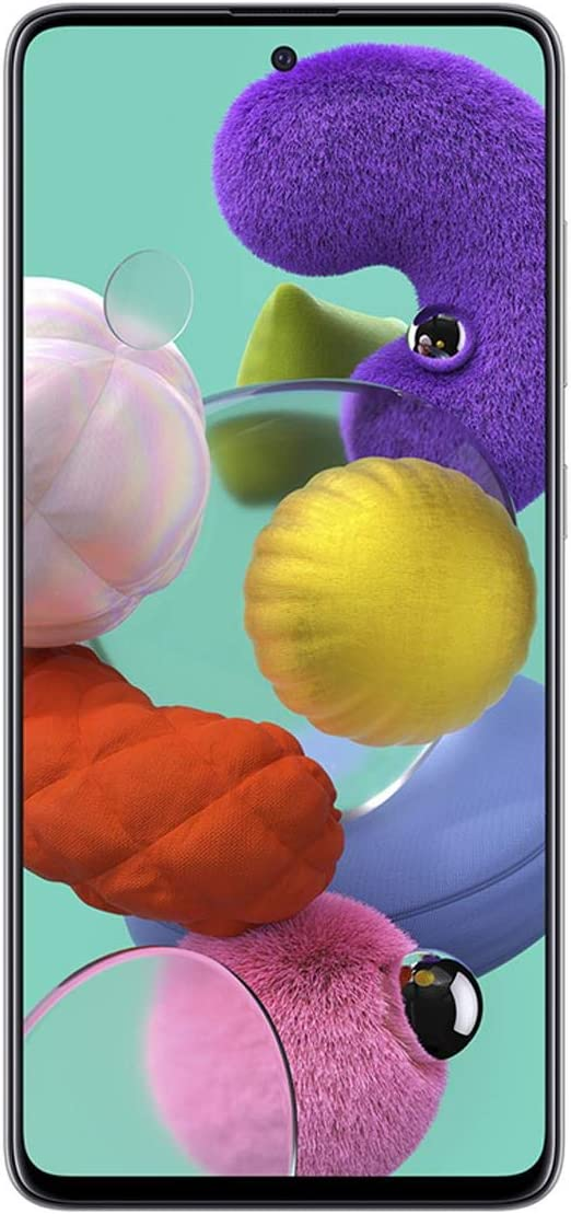Samsung Galaxy A51 A515F 128GB DUOS GSM Unlocked Phone w/Quad Camera 48 MP + 12 MP + 5 MP + 5 MP (International Variant/US Compatible LTE) - Prism Crush White