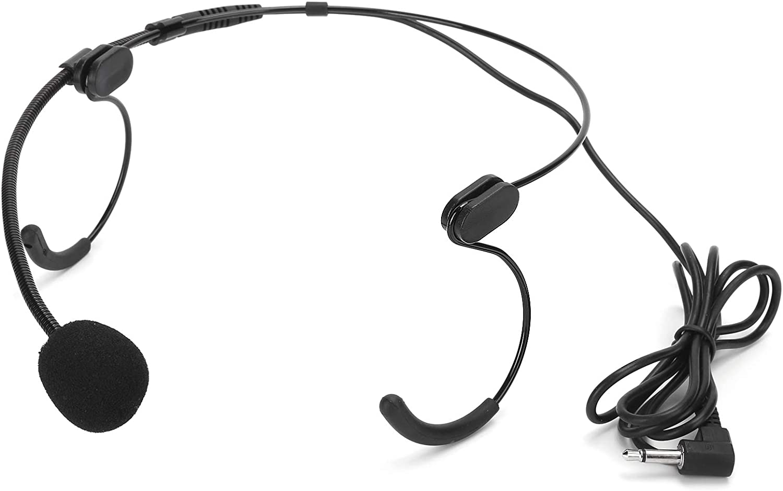 Popularity Microphone Headworn Headset Condenser Plug Mic 3.5mm 5 ☆ popular