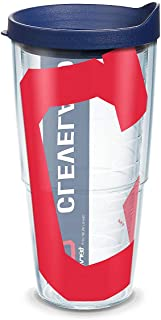Tervis 1322390 Cleveland Indians Colossal Wrap Updated with Navy Lid, 24oz, Clear