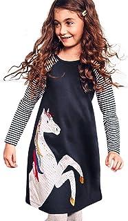65b677a671e DAY8 Fille 2 à 8 Ans Vetement Robe Princesse a la mode Hiver Robe de Soirée