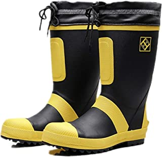 أحذية ForestBird رجالية من المطاط مقدمة فولاذية أحذية للسلامة، أحذية ثلج في منتصف الساق مضادة للماء، أحذية للصيد في الهواء...