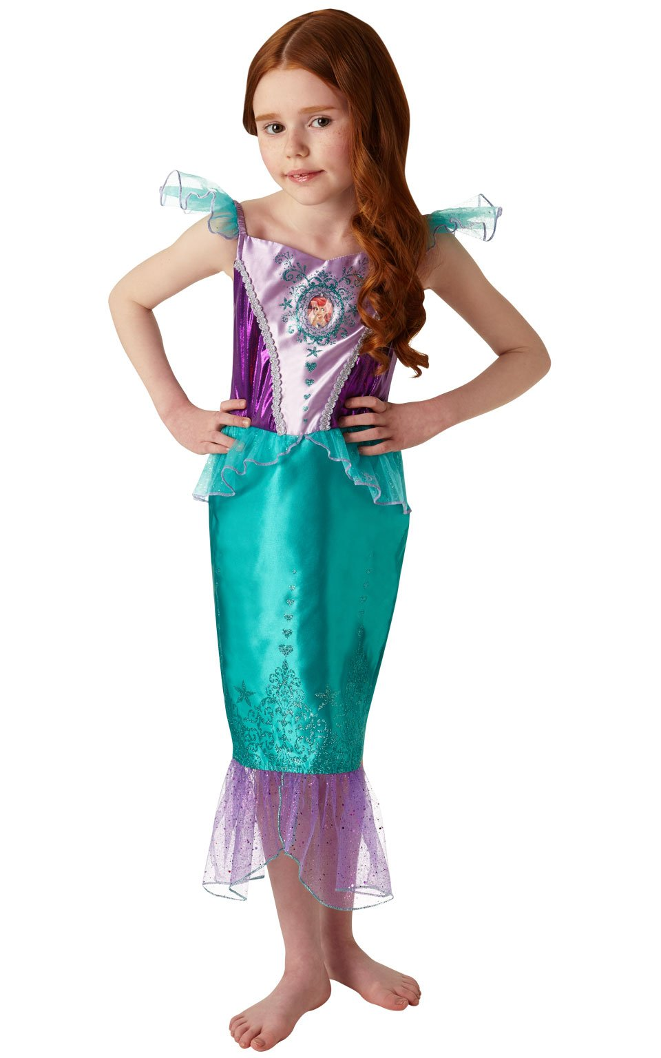 Rubies Official Disney Princess Ariel Disfraz de gema, Color verde, medium (640716M): Amazon.es: Juguetes y juegos