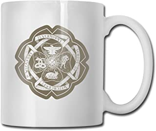 Ilvermorny School Of Witchcraft And Wizardry Crest Personalized White Coffee Mug Tea Cup Gifts T Mothers Day Gifts, Father's Day Gifts, Christmas Gifts, Grandma Grandpa Gifts