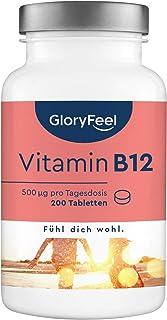 Vitamin B12 Högkoncentrerad - 200 Veganska Tabletter - Bioaktivt B12 - Minskar Trötthet - Komplement till en Vegansk Diet