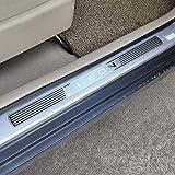 ZGYAQOO 4 Piezas Placas De ProteccióN De Acero Inoxidable para Coche para Seat Leon mk3 X-Perience Cupra 2014-2020, DecoracióN para Estribos, Door Sill Listones De Umbral