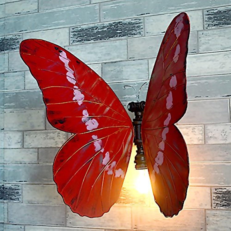 HDMY Persnliche Wasserpfeife Schmetterling Wandleuchte DIY Kreative Schlafzimmer Nachttischlampe Metall Dekoration Beleuchtung Korridor Gang Wandleuchte