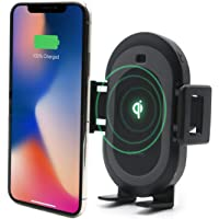 Lynktec Bolt Smart Automatic Car Mount Qi Fast Wireless Charger for iPhone X, XS, 8, 8 Plus, Samsung Galaxy S9, 9, S8, 8, and Qi-Enabled Devices