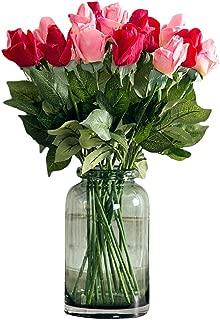 Dooxii Rose Falsa Planta Flores Artificiales Decoración para Hogar Fiesta de Boda de Jardín