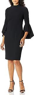Eliza J womens Long Bell Sleeve Midi Dress Casual Dress