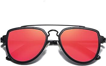 SojoS Gafas De Sol Hombres Mujeres Polarizado Aviador Doble