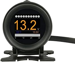 B-Qtech X60 HUD Head Up Display OBD2 Digital Voltage Meter Scanner Diagnostic Tool Plug & Play Warning RPM MPH Fuel