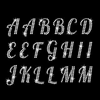 Monogram Alphabet Iron On Rhinestone Crystal T-Shirt Transfer by JCS Rhinestones