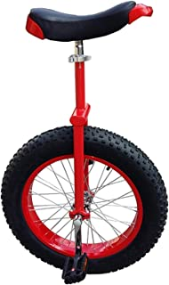 Heavy Duty Adults Unicycle for Tall People/Big Kids/Mom/Dad, 20/24 Inch Wheel Unicycle with Alloy Rim Extra Thick Tire, Lo...
