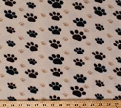 Best paw print fleece fabric by the yard Reviews
