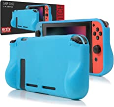 Orzly Comfort Grip Case for Nintendo Switch - Protective Back Cover for use on the Nintendo Switch Console in Handheld GamePad Mode with built in Comfort Padded Hand Grips - BLUE