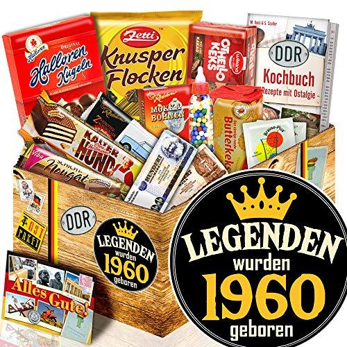 Legenden 1960 + Jahrgang 1960 Geschenk + Süßigkeiten Ostpaket
