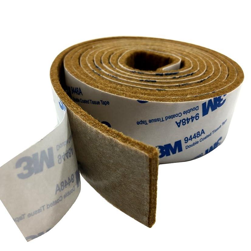 雄弁なリーダーシップ修理工Tetedeer 床のキズ防止テープ 自由にカットして使用可 幅3cm 長180cm (ブラウン)