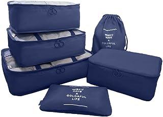 アレンジケース トラベルポーチ 6点セット 軽量 防水 防塵 大容量 旅行 出張 整理用 衣類収納 靴バッグ 洗面用具入れ