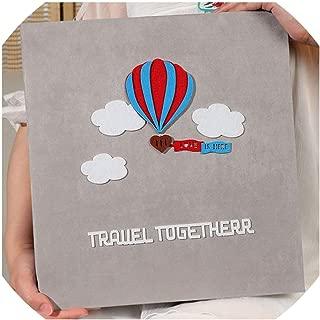 Photo Albums Creative Velvet Sticker Album Handmade DIY Album Family Baby Children's Birthday Souvenir Album,Light Green