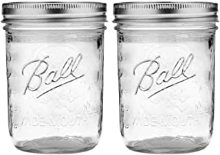 Ball Wide Mouth Pint Mason Jars with Lids & Bands | 16-oz | 2-Pack
