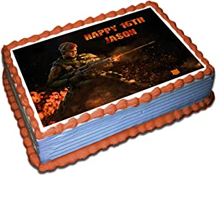 Call of Duty Black Ops 4 Battery Personalized Cake Toppers Icing Sugar Paper 1/4 8.5 x 11.5 Inches Sheet Edible Frosting Photo Birthday Cake Topper (Best Quality Printing)