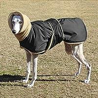中型大型犬用の超暖かい厚い犬の服防水犬のコートジャケットグレイハウンドウルフハウンド羊飼いの服