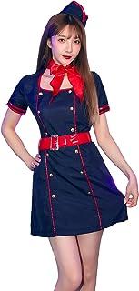 [ブライトララ] キャビンアテンダント コスプレ 制服 仮装 客室乗務員 コスチューム レディース 大人