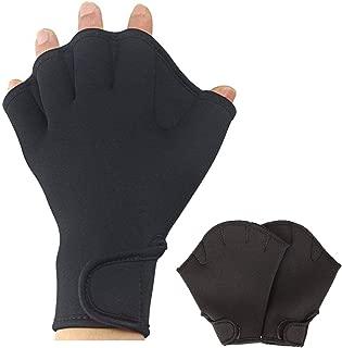 ZSZBACE Swim Gloves,Swimming Paddles,Adult Children Swimming Handcuffs, Fingerless Men and Women Paddles, Winter Swimming Training Equipment, Diving Gloves for Swimming Training