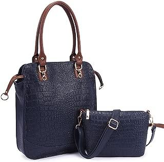 Symbolove Womens Modern Simple Shoulder bag Top Handle Bag and Cross bag Leather Satchel Handbag