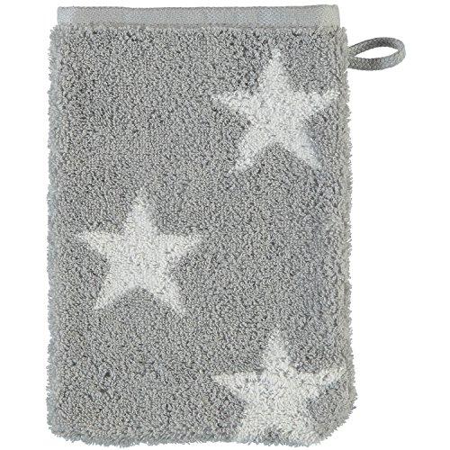 Cawö Home Handtücher Small Stars 525 Silber - 76 Waschhandschuh 16x22 cm