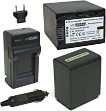 Wasabi Power Battery (2-Pack) and Charger for Sony NP-FH100 and Sony DCR-DVD203, DCR-DVD205, DCR-DVD408, DCR-DVD508, DCR-DVD560, DCR-DVD610, DCR-DVD650, DCR-DVD710, DCR-DVD810, DCR-DVD910, DCR-HC28, DCR-HC38, DCR-HC48, DCR-SR42, DCR-SR45, DCR-SR47, DCR-SR62, DCR-SR65, DCR-SR67, DCR-SR82, DCR-SR85, DCR-SX40, HDR-CX7, HDR-CX12, HDR-HC3, HDR-HC5, HDR-HC7, HDR-HC9, HDR-SR10, HDR-SR11, HDR-SR12, HDR-XR500V