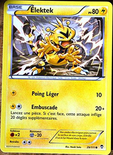 carte Pokémon 29/111 Élektek 80 PV XY03 XY Poings Furieux NEUF FR