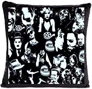 Cinema Decor - Movie Throw Pillow Covers - Set of 2 - Unique Throw Cushion Covers - Decorative Square Throw Pillow Case Pillowcases for Couch Living Room Sofa Bed with Zipper 45cm x 45cm, 18x18 Inches