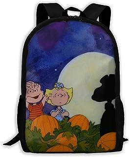 Custom Great Pumpkin Snoopy Casual Backpack School Bag Travel Daypack Gift