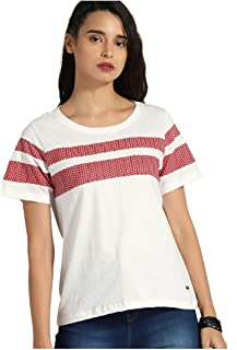 ROADSTER Women Cotton T-Shirt Top | Casual Formal TShirt Blouse for Ladies