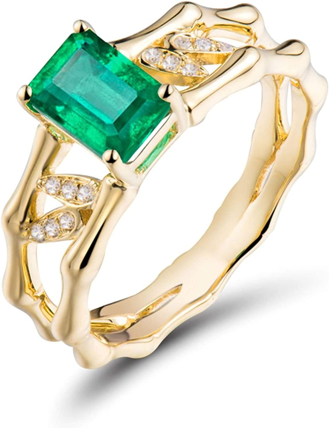 AMDXD New arrival Gold Ring 18K Real Engagement for Women Same day shipping 1.05ct