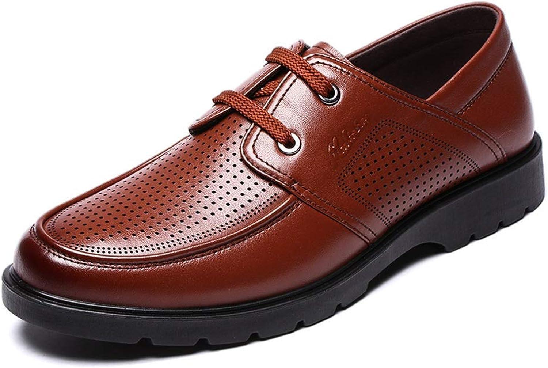 Oudan Herren Herren Herren Business Hohl Breathable Lederschuhe, Herren Formelle Lace Up Kleid Schuhe für Männer (Farbe: BRAUN, Größe: 40) (Farbe : Braun, Größe : 39) B07KD8QS4X  ae816e