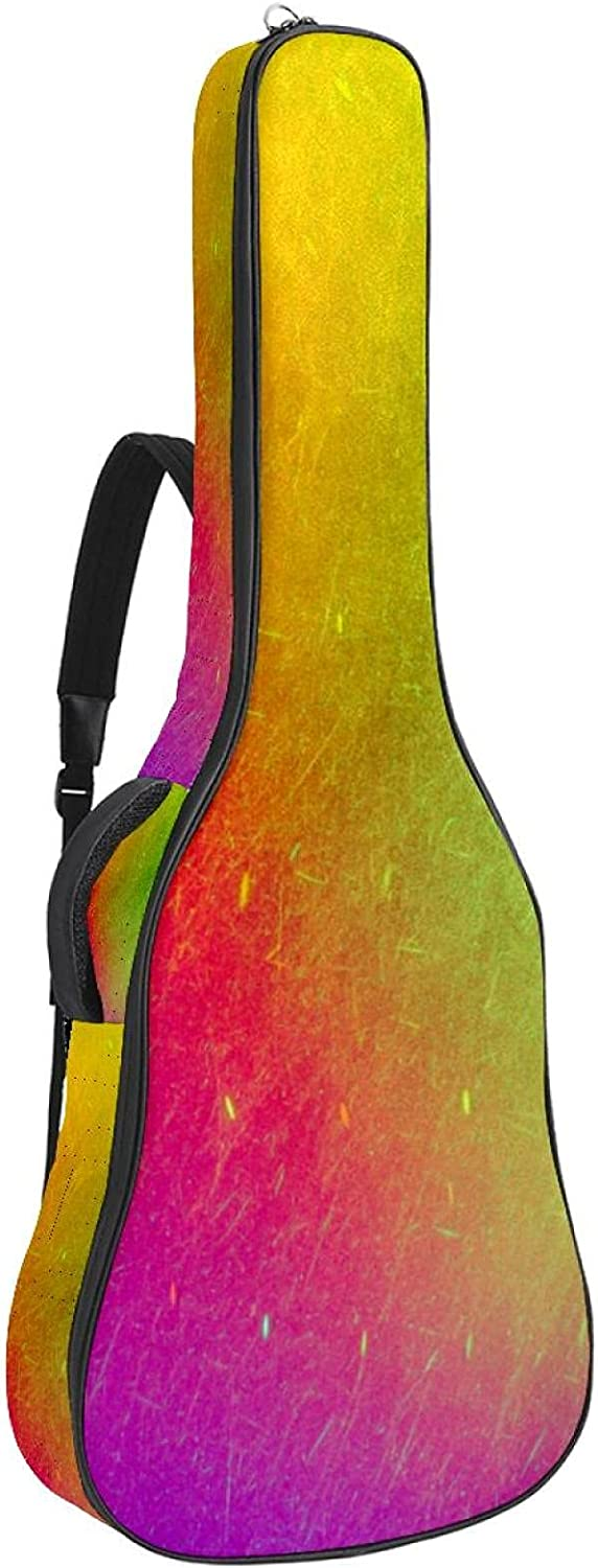 Spasm price Acoustic Guitar Bag OFFicial mail order Thick Padding Dual Waterproof Sho Adjustable