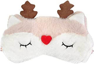 Remeehi Cute Animal Patch Eye Mask Plush Sleeping Eye Cover Blinder Fox