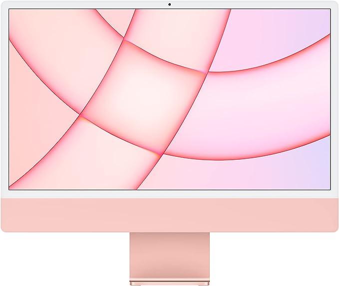 2021 Apple iMac (24-inch, Apple M1 chip with 8‑core CPU and 7‑core GPU, 8GB RAM, 256GB) - Pink | Amazon