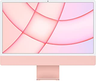 2021 Apple iMac (24-inch, AppleM1‑chip met 8‑coreCPU en 8‑coreGPU, Vier poorten, 8GB RAM, 256 GB) - roze