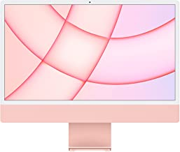 2021 Apple iMac (24-inch, Apple M1 chip with 8‑core CPU and 8‑core GPU, 8GB RAM, 512GB) - Pink