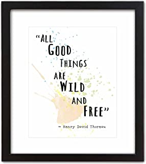 Wall Art Print by ArtDash ~ HENRY DAVID THOREAU Famous Quote: